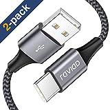 USB Typ C Kabel, [2Stück 2M] Nylon Type C Ladekabel Fast Charge Sync USB C Schnellladekabel für...