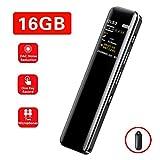 Digitales Diktiergerät,SuperEye 16GB Mini Digital Voice Recorder mit MP3,Kompaktes Aufnahmegerät...
