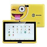 Kinder Tablet SIXGO 7 Zoll Android Pads Kleinkind Tablet Kids Edition Tablet mit WiFi Doppelkamera Kindertablett 1 GB + 16 GB Kindersicherung, Google Play Store GMS Beglaubigung (gelb)
