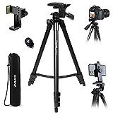 Endurax Kamera Stativ 153cm Erweiterbarer Handy Stativ aus Aluminium Tragfähigkeit 3KG...