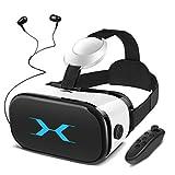YEMENREN 3D VR Brille, VR Headset mit Bluetooth Controller und Kopfhörer, 120° FOV, HD Virtual...