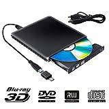 Externe Blu Ray DVD Laufwerk 3D, USB 3.0 USB Type C Bluray CD DVD RW Rom Player Tragbar für PC...
