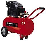 Einhell Kompressor TE-AC 270/50/10 (1.800 W, max. 10 bar, 50 l-Tank, Druckminderer, Rückschlag-/Sicherheitsventil, langlebig durch Ölschmierung)