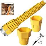 Mehrzweck schraubenschlüssel für toilettenschüssel Wasserhahn und Spülbecken,Lesai (8 in 1)standhahnmutterschlüssel wasserhahn schlüssel,Multifunktionale rohrschlüssel Reparatur-Werkzeug