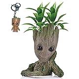 Kyhon Baby Groot Blumentopf Figur - Übertopf Groß Aquarium Deko Figur Holz Aschenbecher Stiftehalter - Innen