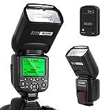 ESDDI Canon Blitzgerät, 1/8000 HSS Wireless Flash Speedlite GN58 2.4G Funk Master Slave für Canon,...