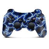 Lioeo PS3 Controller Wireless Bluetooth Gamepad für PlayStation 3 Doppelt Vibration Controller Fernbedienungen Six-axis PS3 Controller mit Ladekabel (Blau)