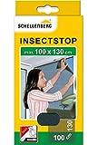 Schellenberg 50713 Fliegengitter für Fenster Insektenschutz und Mückenschutz inkl. Klebestreifen, ohne Bohren, 100 x 130 cm, anthrazit
