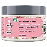 Love Beauty And Planet Blooming Strength und Shine Haarmaske, für strapaziertes Haar Murumuru Butter und Rose silikonfrei, 1 Stück (300 ml)