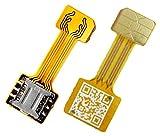 TECNOIOT Hybrid Dual SIM Card Adapter Micro SD Nano SIM Extension Adapter for Android |Dual SIM Nano...
