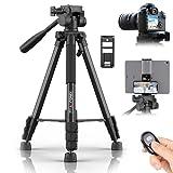KINGJOY Kamera Stativ 152 cm Aluminium Lightweight Stativ Tragfähigkeit 5KG für Canon Nikon DSLR...