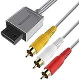 WII Audio Video Kabel,Wii AV Kabel, 6amLifestyle 1,8M Composite TV AV-Kabel Ersatz vergoldetes Draht...