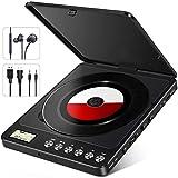 NIXIUKOL Tragbarer CD Player 1500mAh Persönlicher Wiederaufladbar MP3 CD Player mit Doppelte 3.5mm...