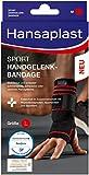Hansaplast Sport Handgelenk-Bandage, Handgelenkstütze schont und unterstützt das Gelenk, Handgelenkschoner passend für das rechte und linke Handgelenk, Größe L