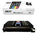4X Eurotone Toner für Canon Lasershot LBP 5200 n ersetzt 701 CRG-701 Schwarz Blau Rot Gelb