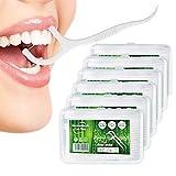 Dental Floss, 300+40 Stück Zahnseide Sticks Zahnstocher Stick, Zahn Draht Zahnpflege Interdental Flossers mit Y-Form Design, Einwegzahnseide Zahnreinigung Sticks von Yuede (6x50+40Pcs) (Weiß)