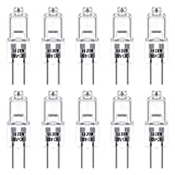 G4 Halogen Light Bulbs, Techgomade 12V 20W Halogen Pin Base Light, 3000K Warm White, 350LM, Dimmable, G4 Low Voltage Halogen Lamp, Clear Capsule Lamp, for Crystal Chandeliers, 10 Pack