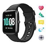 GRDE 【Neueste Modell】 Smartwatch Bluetooth V5.0 Fitness Armbanduhr 1,3 Zoll Voll Touchscreen Sportuhr mit Schrittzähler Herzfrequenz/Schlaf Monitor 5 ATM Wasserdicht Fitness Tracker für IOS Android