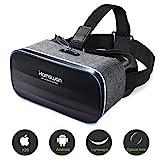 3D VR Brille Headset für Handy, Virtual-Reality-Brille mit Panorama-Sicht, 360 Grad, für iPhone &...