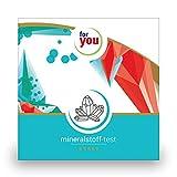 for you mineralstoff-test I zertifizierter Labor Test zur Messung der 10 wichtigsten Mineralstoffe uA Eisen Zink Magnesium Jod Calcium testen I Mineralien testen I Selbsttest für zuhause