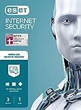 ESET Internet Security 2020   3 Geräte   1 Jahr   Windows (10, 8, 7 und Vista), macOS, Linux und Android   Aktivierungskarte