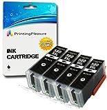 4 XXL Pigment SCHWARZ Premium PGI-580XXL PGBK Druckerpatronen für Canon Pixma TR7550, TR8550, TS6150, TS6151, TS8150, TS8151, TS8152, TS9150, TS9155 | PGI-580PGBK XXL