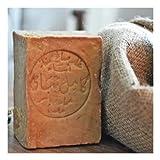Originale Aleppo Seife mit Olivenöl/Lorbeeröl 60%/40% - Haarwaschseife/Duschseife - 100% Veganes Naturprodukt - reine Handarbeit ca.200g - Plastikfreie Verpackung.