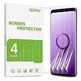 apiker [4 Stück TPU Schutzfolie für Samsung Galaxy S9, Samsung Galaxy S9 TPU Displayschutzfolie, mit Positionierhilfe blasenfrei, hohe Definition, hohe Empfindlichkeit
