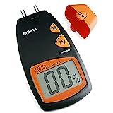 AMTAST Feuchtigkeitsmessgerät 4 Pins Holzfeuchtemessgerät, Digital Feuchtigkeitsmesser für Holz Brennholz, Humidity Meter mit LCD Display, Messbereich 5%-40%, Genauigkeit:+/-1%