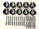 Sparset ---- 10 Stück Schraubrohrschelle 20-23 mm 1/2' mit Stockschraube 8x80 und Dübel 50x10