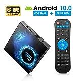 Android TV Box 10.0, GKG T95 TV-Box 4GB RAM 32GB ROM mit Allwinner H616 Quad-Core 64-Bit-Unterstützung 6K 3D Wi-Fi 2,4 GHz Android Box [2020 Neueste]