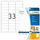 HERMA 8837 Universal Etiketten für Inkjet Drucker DIN A4 (63,5 x 25,4 mm, 25 Blatt, Papier, matt)...