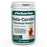 Carotin Bräunungskapseln 200 Stk. - pro Kapsel 8 mg Beta-Carotin + 300 mg Nachtkerzenöl