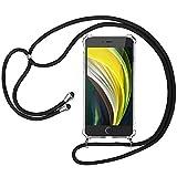 laxikoo Handykette für iPhone SE 2020, iPhone 8/7 Handyhülle mit Umhängeband Transparent Silikon...