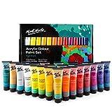 Mont Marte Premium Acrylfarben Set – 24 Stück, 36ml Tuben – Ideal für Acrylmalerei – Brillante Lichtechte Farben mit großer Deckkraft – Perfekt geeignet für Anfänger, Profis und Künstler