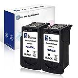 BJ Remanufactured Patronen für Canon PG-510XL für Canon IP2700 MP230 MP240 MP250 MP260 MP270 MP280 (2 Schwarz)