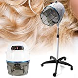 DiLiBee Einstellbar Trockenhaube Haartrockenhaube Haartrockner Haube Standfuß Salon Ständer Haartrockner Trockner Salon Friseur Standfuß 950W (Weiß)