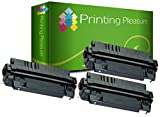 Printing Pleasure 3 Toner kompatibel für HP Laserjet 5000 5000DN 5000GN 5000N 5100 5100DTN 5100TN Canon LBP-840 LBP-850 LBP-870 LBP-910 LBP-1610 LBP-1620 LBP-1810 GP160F - Schwarz, hohe Kapazität