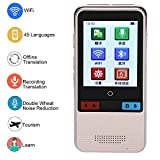 ASHATA Smart Sprachübersetzer, Mini 2,4 Zoll Touchscreen Intelligenter WiFi...