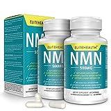 Zwei Flaschen PUREST NMN für NAD Support | 60 Kapseln | 500 mg | Ergänzung für Anti-Aging & Energiestoffwechsel | Vegan freundlich
