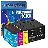 Tito-Express PlatinumSerie 5 Tinten-Patronen XXL kompatibel zu Canon PGI-1500 XL Maxify MB 2000 Series MB 2050 MB 2350