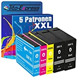 Tito-Express PlatinumSerie 5 Patronen XXL kompatibel mit Canon PGI-2500 2500XL | geeignet für Canon Maxify iB-4050 iB-4150 MB-5050 MB-5150 MB-5155 MB-5350 MB-5450 MB-5455