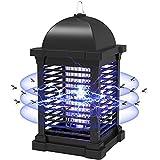 PALONE Insektenvernichter Elektrisch,2021 Aufgerüstet 4300V Stark Elektrischer Mückenlampe mit UV Licht,Keine Giftigen Chemikalien,Wirksam Reduzieren Fliegender Insekten für Küche Garten