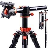 K&F Concept 170cm Kamerastativ, TM2515T1 Stativ mit 90 Grad Mittelsäulen Einbeinsativ-Funktion,...