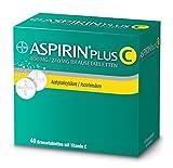 Aspirin® PlusCForteBrausetabletten, beistärkeren*Kopfschmerzen und Erkältungsschmerzenwie Hals-undGliederschmerzen,sowie Fieber40Stück