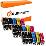 Bubprint 30 Druckerpatronen kompatibel für Canon PGI 550 XL 550XL BK CLI 551 551XL für Pixma IP7250 IP8750 IX6850 MG6450 MG7550 MX920 MX925 Multipack