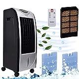 Boomersun Mobiler Luftkühler 360°,Fernbedienung Luftkühler mit Wasserkühlung, 7 Liter Wasserkühlung Klimagerät Mobil mit Luftbefeuchtung und Nachtmodus