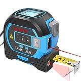 Laser Entfernungsmesser 3-in-1-maßband, 40m Laser-Entfernungsmesser, 5m Maßband, 10m Fadenkreuz, Digitales Laser Entfernungsmesse mit LCD-Anzeige, Abstand/Fläche/Volumen Messungen