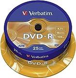 Verbatim DVD-R AZO 4,7GB - 16-fache Brenngeschwindigkeit - 25er Spindel - Mattsilber
