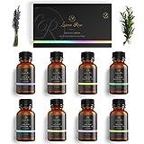 Luana Rose Ätherische Öle Set - 8x Duftöle 100% Naturrein für Diffuser - Aromatherapie Aroma Öl Geschenkset für Luftbefeuchter - Essential Oils für Massage Kerzen Seife - Süße Orange, Lavendel etc.